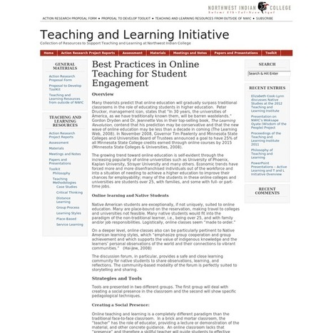 Best Practices in Online Teaching for Student Engagement | Latest on Healthy Eating | Scoop.it