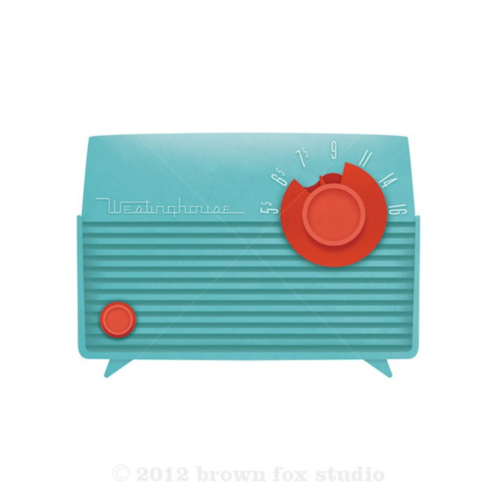 Aqua Turquoise and Coral Red Westinghouse Radio | Antiques & Vintage Collectibles | Scoop.it