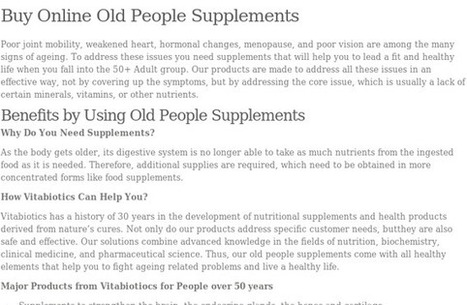 Nutritional and vitamin supplements | Vitamin Supplements for Women at South Africa | Scoop.it