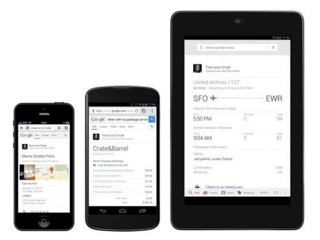 Google Search : la recherche dans Gmail, Google Agenda et Google+, à la sauce Google Now | Geeks | Scoop.it