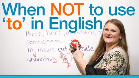 When NOT to use 'to' in English – Grammar · engVid   English is fun   Scoop.it