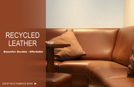 Buy Recycled Leather Fabric - Kovifabrics.com   Elegant Collection of Durable Microfiber Fabric from Kovi   Scoop.it