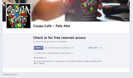 Facebook helps some local businesses provide free Wi-Fi in exchange for check-ins | SoLoMo thesis | Scoop.it