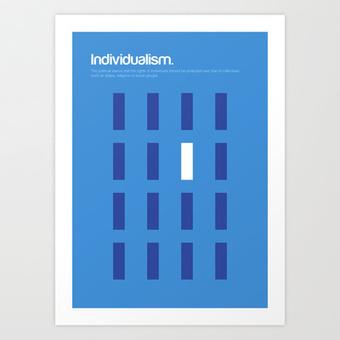 Individualism Art Print by Genis Carreras | Society6 | Wider Philosophy | Scoop.it