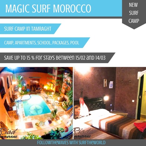 NEW SURF CAMP IN MOROCCO!<br/><br/>!!!Special offers available: Save up tp 15%!!! | Surf travel | Scoop.it