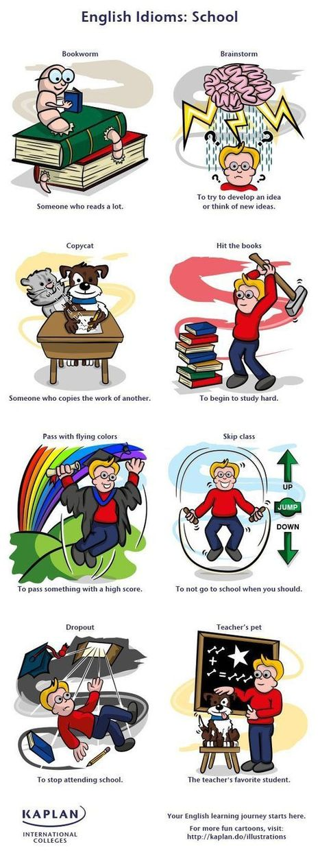 School - English idioms. | Idioms | Pinterest | Think in english | Scoop.it