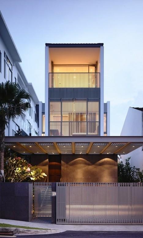 Maison contemporaine étroite à Singapour | Architecture à travers le monde | Scoop.it