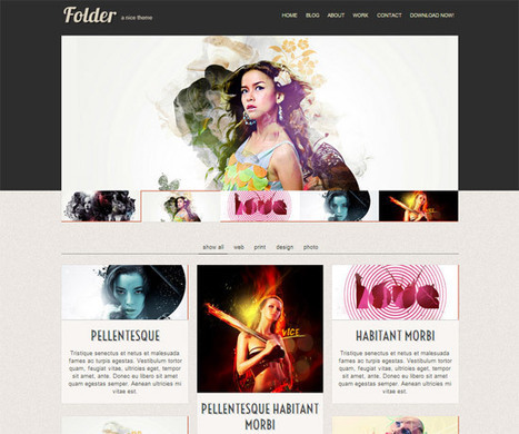 45 High-Quality Free HTML/CSS Templates from 2011 and 2012 | wdsdas | Scoop.it