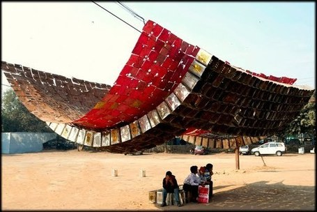 Sanjeev Shankar: Jugaad Canopy | Art Installations, Sculpture | Scoop.it