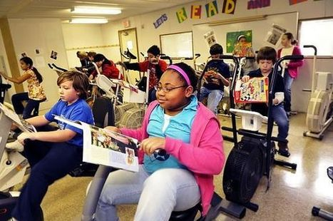 Want Healthier Students Who Love to Read? Ditch Those Desks for Bikes | Interesting | Scoop.it