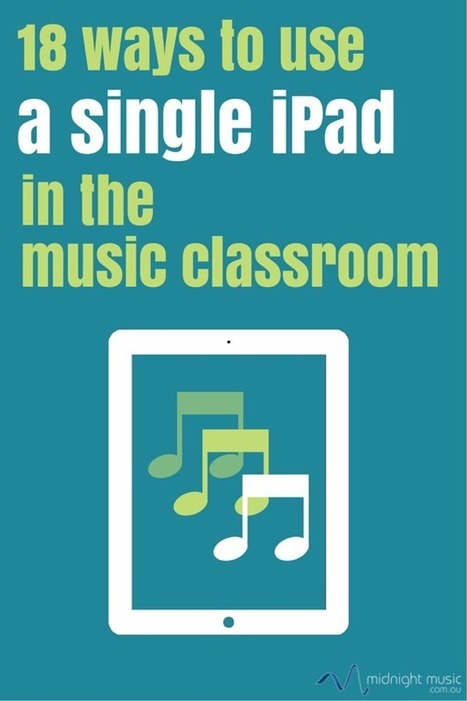 18 Ways To Use A Single iPad In The Music Classroom - Midnight Music | iPad classroom | Scoop.it