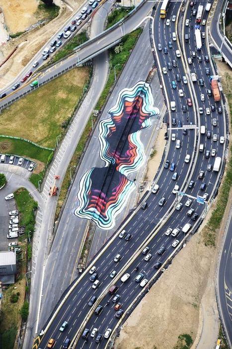 Une oeuvre géante de street-art sur le périph' à Paris | Lumières de la Ville | Mon oeil par Strabo | Scoop.it