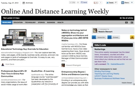 Aug 7 - Online And Distance Learning Weekly | Studying Teaching and Learning | Scoop.it