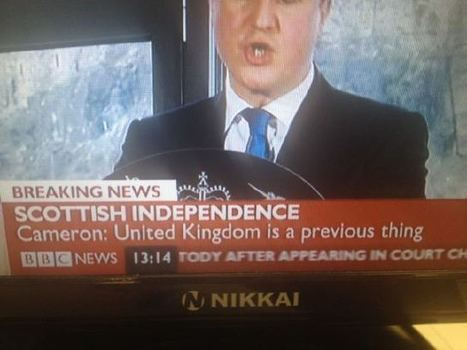 United Kingdom is a previous thing | Referendum 2014 | Scoop.it