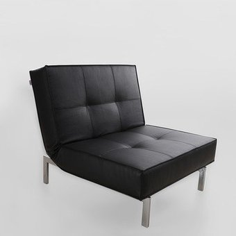 @@@   Modern Chair Sofabed – Black Leather New Spec | Cheap Sofa Beds | Scoop.it