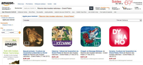 Avec l'App-Shop d'Amazon, la Réunion des musées nationaux – Grand Palais élargit la diffusion de ses applications numériques | Clic France | Scoop.it