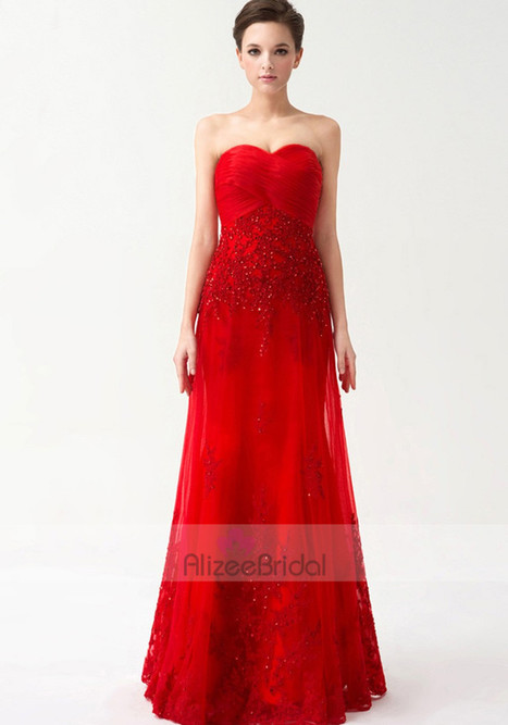 Sweetheart Floor Length Tulle A Line Evening/Prom Dress Oho0143 | Fashion Dresses Online | Scoop.it