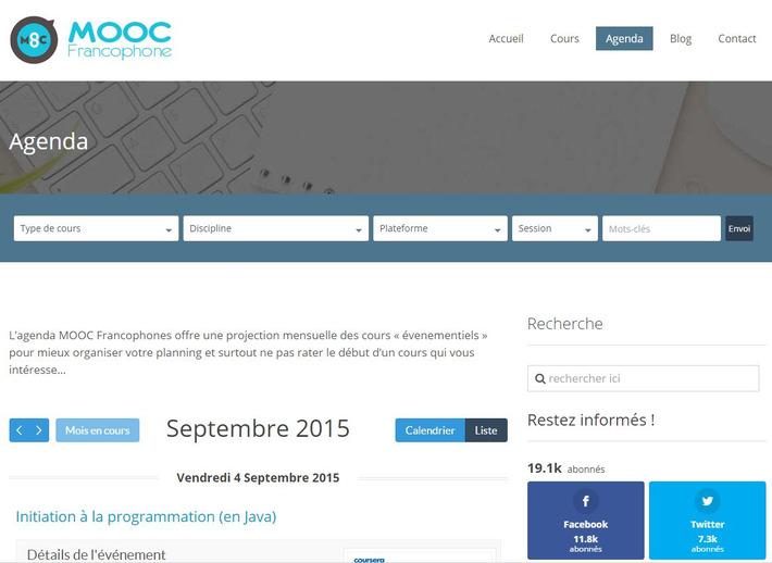Tous les MOOC et SPOC de Septembre sont sur l'agenda MOOC Francophone | Solutions locales | Scoop.it