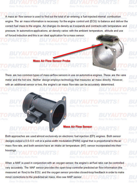 What is a mass air flow sensor | Mazda RX8 Parts | Scoop.it