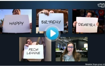 Skype Turns Happy Birthday Facebook Posts Into Sing-Alongs With Your Favorite Bands | MUSIC:ENTER | Scoop.it