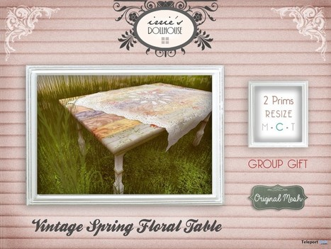 Vintage Spring Floral Table Group Gift by irrie's Dollhouse | Teleport Hub - Second Life Freebies | Second Life Freebies | Scoop.it