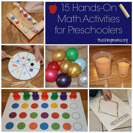 Hands-On Math Activities for Preschoolers - Teaching Mama | Afterschool | Scoop.it