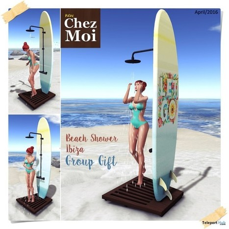 Beach Shower Ibiza April 2016 Group Gift by Chez Moi Furniture | Teleport Hub - Second Life Freebies | Second Life Freebies | Scoop.it