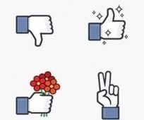 'No me gusta' en Facebook llega en pegatinas para Messenger ... | Redes Sociales | Scoop.it