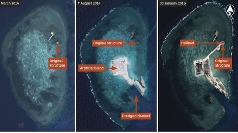 Satellite Imagery shows progress of Chinese land building across Spratlys | GEOINT | Scoop.it