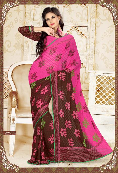Casual Printed Sarees | Surat Sarees Online from JagdambaSarees | Scoop.it