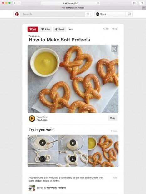 Pinterest : Arrivée des épingles How-To pour les tutoriels - WebLife | CM News et How to | Scoop.it