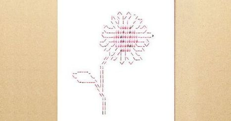 Typewriter art ASCII card - Sunflower greeting card | ASCII Art | Scoop.it