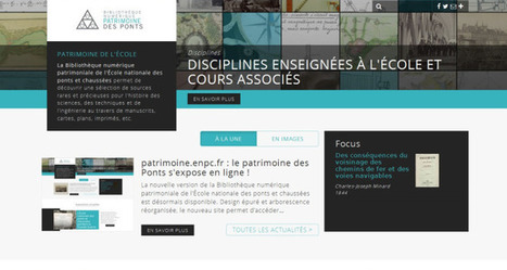 La bibliothèque numérique de l'Ecole Nationale des Ponts et Chaussées | Trucs de bibliothécaires | Scoop.it
