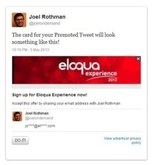 Twitter Lead Generation Cards and Marketing Automation — Eloqua | Personal Branding and Professional networks | Scoop.it