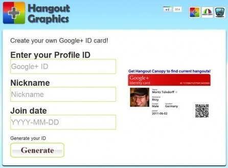 Une carte d'identité pour Google+ | Freewares | Scoop.it