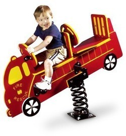 Double Seat Fire Truck Rider | Commercial Playground Equipment | Scoop.it