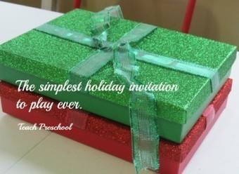 The simplest holiday invitation to play ever! | Teach Preschool | Scoop.it