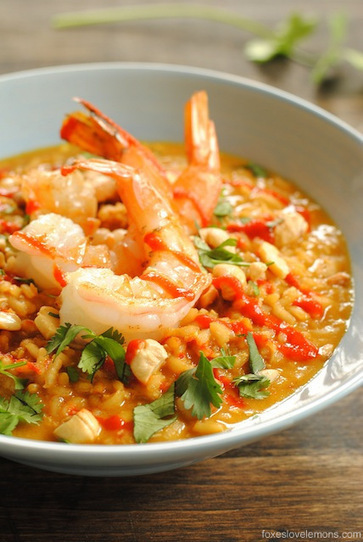 #Recipe / Spicy Coconut Risotto with Lime Shrimp | food | Scoop.it