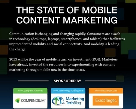 Infographic: The State of Mobile Content Marketing - Marketing Technology Blog | DeMystify Marketing ~ Digital Marketing | Scoop.it