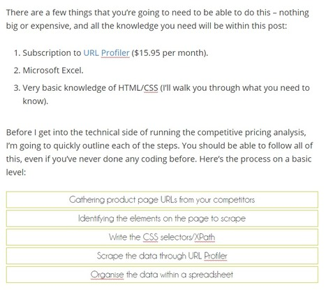 Hacking Competitive Pricing Analysis with Scraping - Matthew Barby | Digital Marketing | Scoop.it