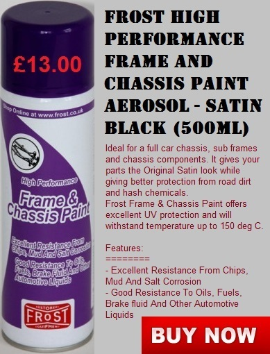 Frost High Performance Frame and Chassis Paint Aerosol - Satin Black | Auto Restoration | Scoop.it