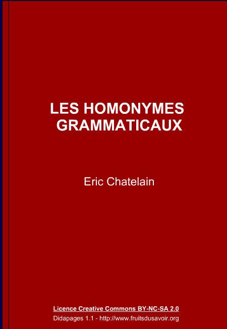 LES HOMONYMES GRAMMATICAUX | Remue-méninges FLE | Scoop.it