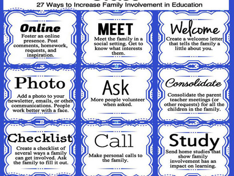 27 Ways to Increase Family Involvement In The Classroom | Primary School Topics | Scoop.it