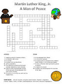 MLK Freebie:  Vocabulary Crossword Puzzle | Seasonal Freebies for Teachers | Scoop.it