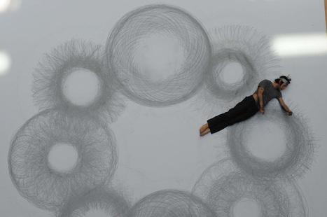 Entre danse et art :Tony Orrico, le spirographe humain   Art, Culture et Société   Scoop.it