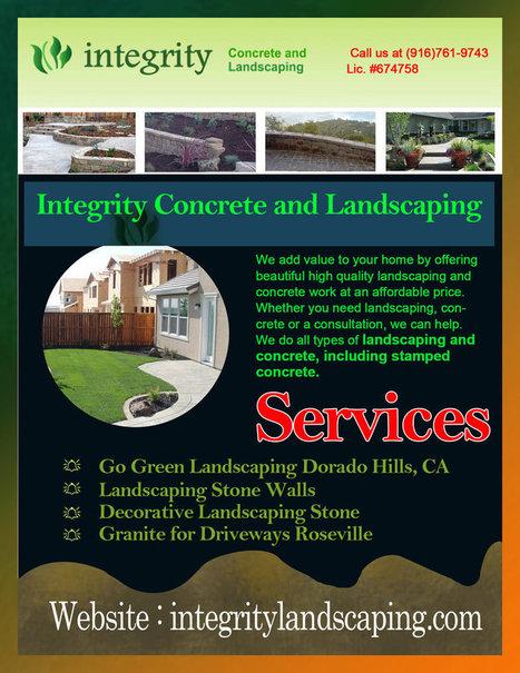 Patio Concrete Services in Dorado Hills, CA | Integrity Landscaping | Scoop.it