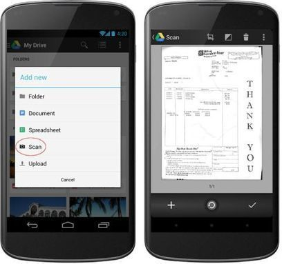 Now you can scan documents to Google Drive using your phone - Liliputing | Using Google Drive in the classroom | Scoop.it