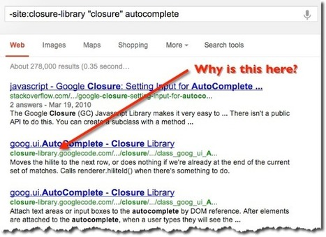 SearchReSearch: Why site: sometimes doesn't seem to work   Strategy and Competitive Intelligence by Bonnie Hohhof   Scoop.it