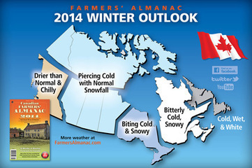 2013-2014 Canadian Winter Forecast from the Farmer's Almanac - Transworld Snowboarding | Canada Winter Weather | Scoop.it