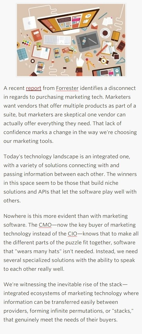 When the Suites Went Sour: The Rise of the Marketing Stack - Profs | Designing  service | Scoop.it